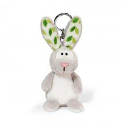 Nici Keyring Plush Rabbit 10 Cm - Light Grey 805-40557 4012390405576