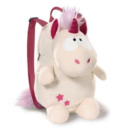 Nici Theodor and Friends Backpack Unicorn Theodor - White 40115 4012390401158
