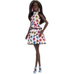 Mattel Barbie Fashionistas Doll 106 Λευκό Φόρεμα με Πολύχρωμα Λουλούδια FBR37 / FXL46 887961694550