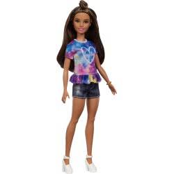 Mattel Barbie Fashionistas 112 Κοντό Τζιν και Πολύχρωμο Μπλουζάκι Hello FBR37 / FYB31 887961704709