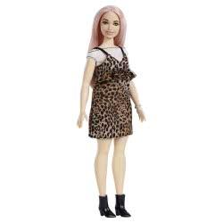 Mattel Barbie Fashionistas Doll 109 Leopard Φόρεμα και Ροζ Μαλλιά FBR97 / FXL49 887961694666