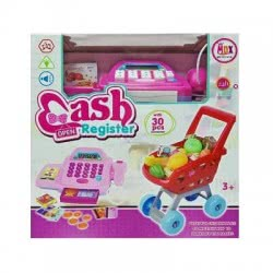 Toys-shop D.I Ταμειακή Μηχανή Cash Register Set Και Καρότσι Super Market JU042973 6990416330232