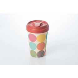 BambooCUP Bright Circles Κούπα Ποτήρι για καφέ ή τσάι ΒCΡ214 4260375682096