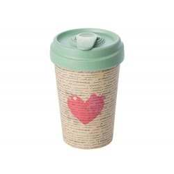BambooCUP Love Letter Κούπα Ποτήρι για καφέ ή τσάι ΒCΡ220 4260375682157