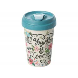 BambooCUP All you need is love Κούπα Ποτήρι για καφέ ή τσάι ΒCΡ228 4260375682232