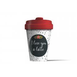 BambooCUP Love You Latte Κούπα Ποτήρι για καφέ ή τσάι ΒCΡ271 4260375685660