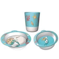 Chic Mic Παιδικό σετ Φαγητού Set of 3 Mermaid With Unicorn ΒΚS335 4260375685936