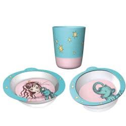 Chic Mic Παιδικό σετ Φαγητού Set of 3 Queeny & Elephant ΒΚS336 4260375685943