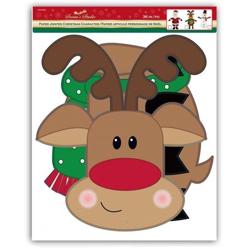 Christakopoulos Χριστουγεννιάτικο Στολίδι Φιγούρα Χάρτινη 92 Εκ. - 3 Σχέδια 4780 5212007551293