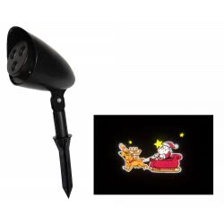 Christakopoulos Christmas LED Projector With Motion Santa Claus And His Sleigh 98262 5212007552092
