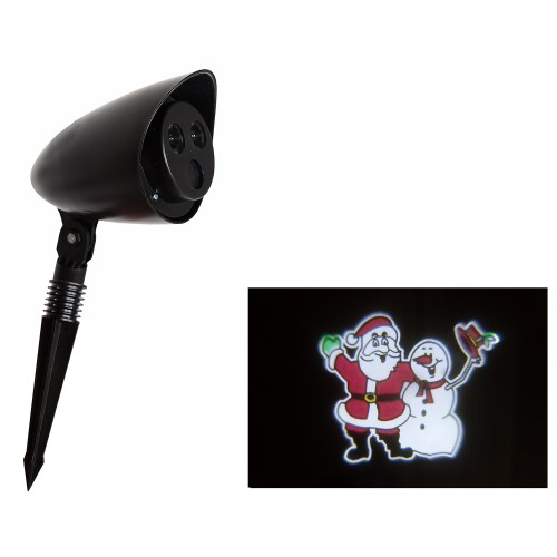 Christakopoulos Christmas LED Projector With Motion Snowman 98263 5212007552122