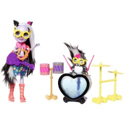 Mattel Enchantimals Rockin Drumset Doll With Friend Animal And Accessory FCC62 / FRH41 887961625677