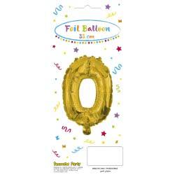 PROCOS Decorata Party Gold Foil No 0 Balloon - Gold 089651 5201184896518