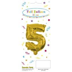 PROCOS Decorata Party Gold Foil No 5 Balloon - Gold 089646 5201184896464