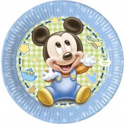 PROCOS Disney Baby Mickey Χάρτινα Πιάτα Μεσαία 20εκ. - 8τμχ 084345 5201184843451