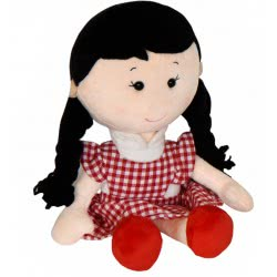 Christakopoulos Λούτρινη Κούκλα με Φόρεμα 35 εκ. - 3 Σχέδια 2042 5212007548774