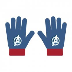 Arditex Marvel Avengers Kids Gloves - Blue AV12348 8430957123484