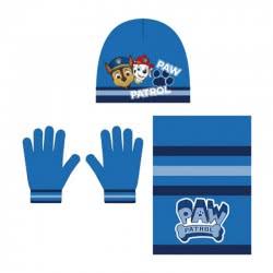 Arditex Paw Patrol Σετ Κασκόλ, Σκούφος και Γάντια - Μπλε PW12164 8430957121640