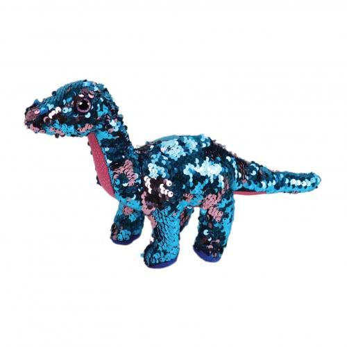 ty Beanie Boos Flippables Χνουδωτό Sequin Δεινόσαυρος Ροζ - Άκουα 15 Εκ. 1607-36263 008421362639