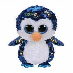 ty Beanie Boos Flippables Χνουδωτό Sequin Πιγκουΐνος Μπλε 15 Εκ. 1607-36264 008421362646