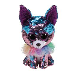 ty Beanie Boos Flippables Plush Sequin Chihuahua Blue - Purple 15 Cm 1607-36268 008421362684