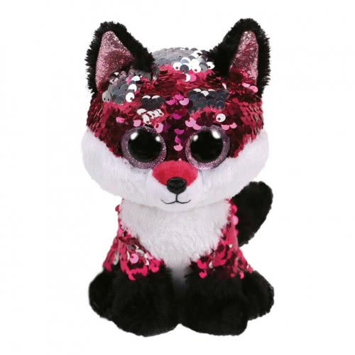 ty Beanie Boos Flippables Χνουδωτό Sequin Αλεπού Ροζ - Λευκό 23 Εκ. 1607-36440 008421364404