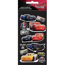 GIM Disney Pixar Cars Stickers Foam 772-16538 5204549115279