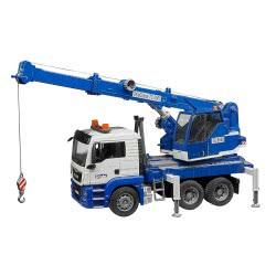 bruder Γερανός ΜΑΝ TGS Crane Με Ήχο Και Φώτα - Μπλε BR003770 4001702037703