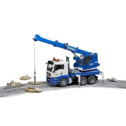 bruder ΜΑΝ TGS Crane Truck With Sound And Light - Blue BR003770 4001702037703