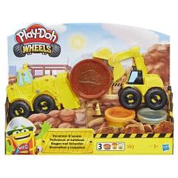 Hasbro Play-Doh Wheels Φορτηγά Οχήματα Κατασκευών (Εκσκαφέας και Φορτωτής) E4294 5010993555956
