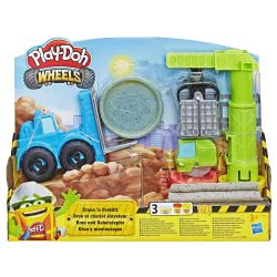 Hasbro Play-Doh Wheels Φορτηγά Οχήματα Κατασκευών (Γερανός Και Ανυψωτικό Όχημα) E5400 5010993563456