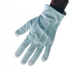 CLOWN Short Hand Gloves 22 cm - White 80658 5203359806582