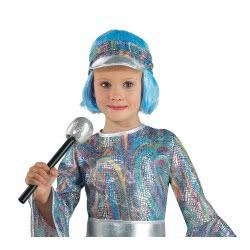 CLOWN Carnaval Wig Light Blue 72749 5203359727498