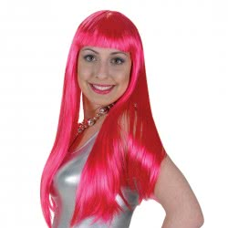 CLOWN Wig Lola Pink 60cm 70713 5203359707131