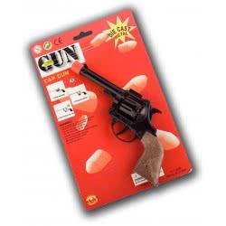 CLOWN Όπλο Texas Μεταλλικό 8Σφαιρο - Ασημί 70621 5203359706219