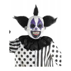 CLOWN Mask Latex Scary  Purple with Hair 72650 5203359726507