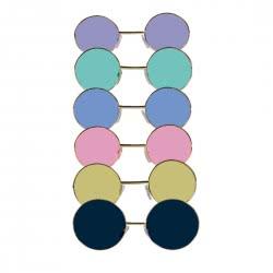 CLOWN Carnaval Hippie Sunglasses - 6 Colours 80595 5203359805950