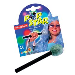 CLOWN Pop Star Microphone With Glitter 80254 5203359802546