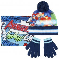 Cerda Avengers Set Scarf, Hat And Gloves - Blue 2200003202 8427934199808