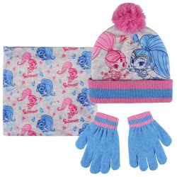 Cerda Shimmer And Shine Set Scarf, Hat And Gloves - Blue, Pink 2200003201 8427934199792