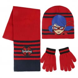 Cerda Miraculous Ladybug Set Hat, Scarf And Gloves - Red 2200002554 8427934966189
