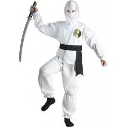 CLOWN Αποκριάτικη Στολή Λευκός Νίντζα - White Ninja Νο. 06 89406 5203359894060
