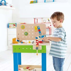 Hape Early Explorer Ξύλινος Πάγκος Εργασίας Master Workbench E3000 6943478004221