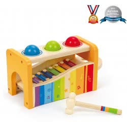 Hape Early Melodies Pound & Tap Bench Με Ξυλόφωνο Και Μπάλες E0305 6943478002340