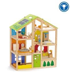 Hape Happy Family Ξύλινο Σπίτι All Season House E3401 6943478005679