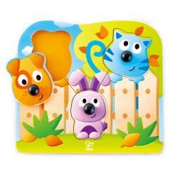 Hape Big Nose Wild Puzzle Ξύλινο παιδικό παζλ E1309 6943478018778