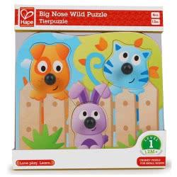 Hape Big Nose Wild Puzzle E1309 6943478018778