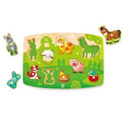 Hape Farmyard Peg Puzzle E1408 6943478018907