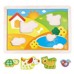 Hape Sunny Valley Puzzle Παζλ Ηλιόλουστο Λιβάδι 3 Σε 1 E1601 6943478016958