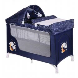 Lorelli Cot San Remo 2Layers Plus Blue Good Night Bear 1008008 1804 3800151942672